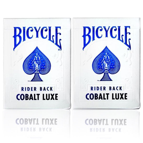 Cobalt Luxe Playing Cards Luxury Metal Foil Bicycle Rider Back 2-Deck Deal