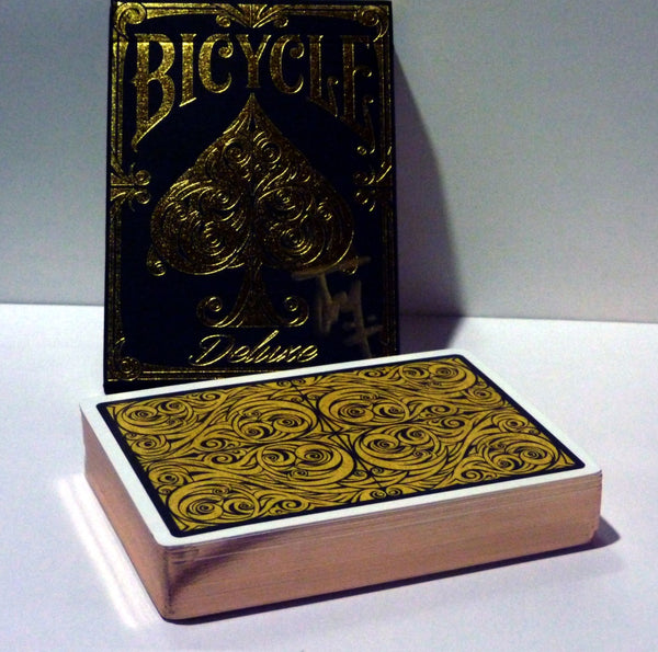 Bicycle Deluxe Playing Cards Champagne Gilded & Signed by Elite