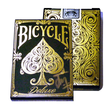 Bicycle Deluxe Playing Cards Diamond Gilded & Signed by Elite