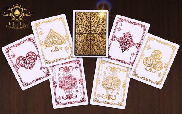 Bicycle Deluxe Playing Cards Gold Foiled Tuck Luxury Deck by Elite