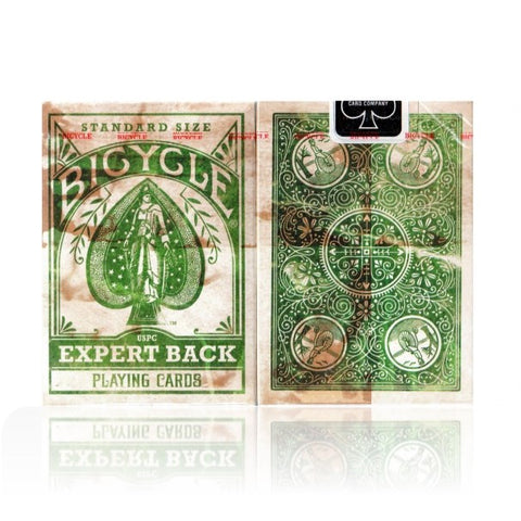 Expert Back Playing Cards Green Edition Deck Old Style Look