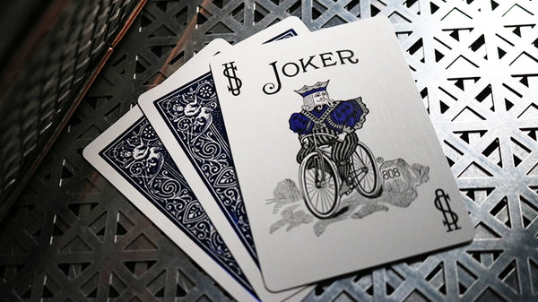 Cobalt Luxe V2 Playing Cards Metal Foil Back by Bicycle New Edition