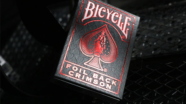 Crimson Luxe V2 Playing Cards Metal Foil Back by Bicycle New Edition