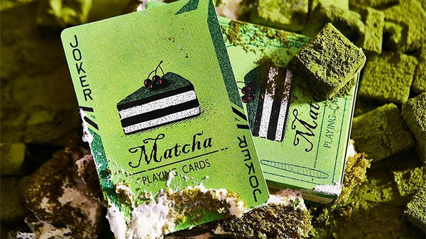 Matcha Playing Cards Bicycle Cake Edition deck by BOCOPO