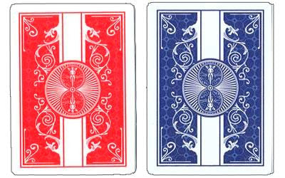 Buyworthy:Bicycle Prestige Playing Cards Poker Deck Blue & Red Editions 100% Plastic 2 Set