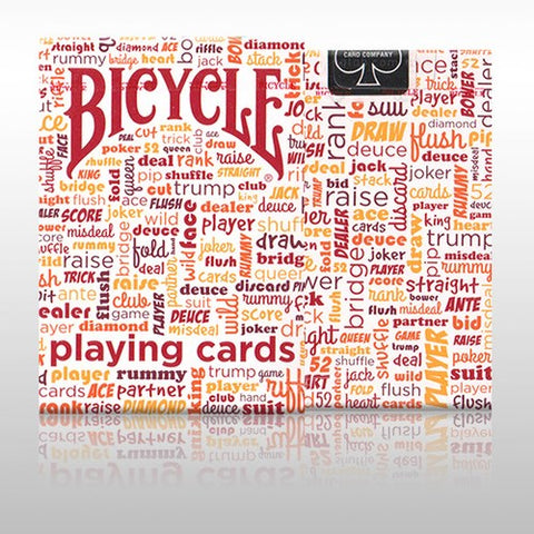 Table Talk Red Orange Playing Cards Poker Deck Bicycle