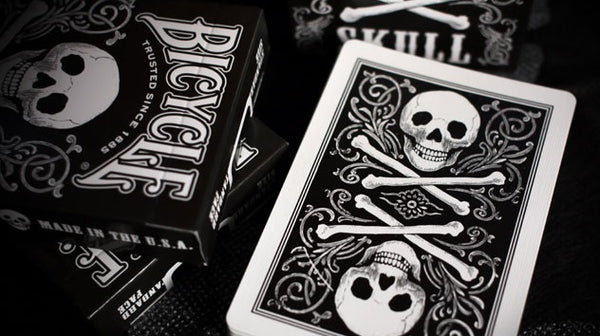 Skull Playing Cards Black Pirate Poker Deck Bicycle Made in USA