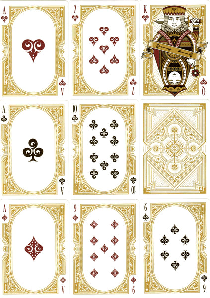 Spirit Playing Cards White Gold 1st Edition Rare Premium Deck