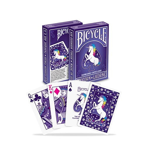 Rainbow Unicorn Playing Cards Purple Deck Bicycle Edition