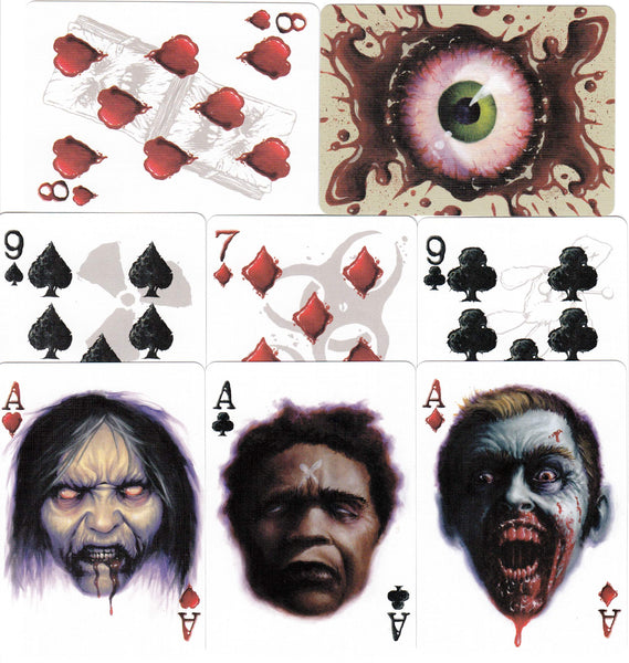 Zombified Zombie Playing Cards Poker Deck Bicycle Grrg Arrrrg!