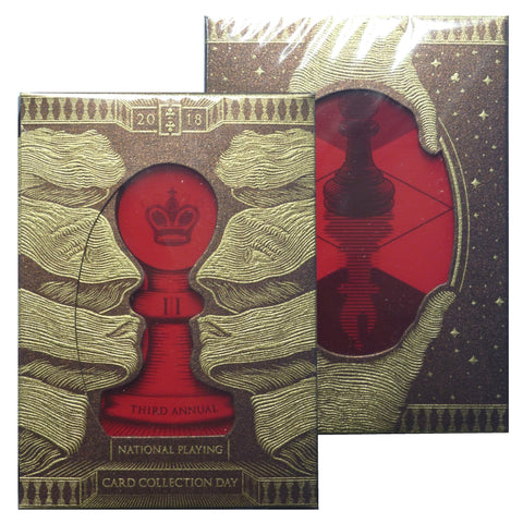 Bishop NPCCD 2018 National Playing Card Collection Day Rare Red Deck