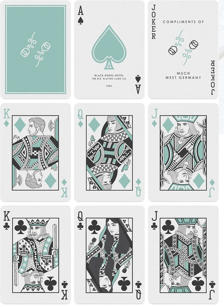 Black Roses Hotel Playing Cards First Edition By Daniel Schneider
