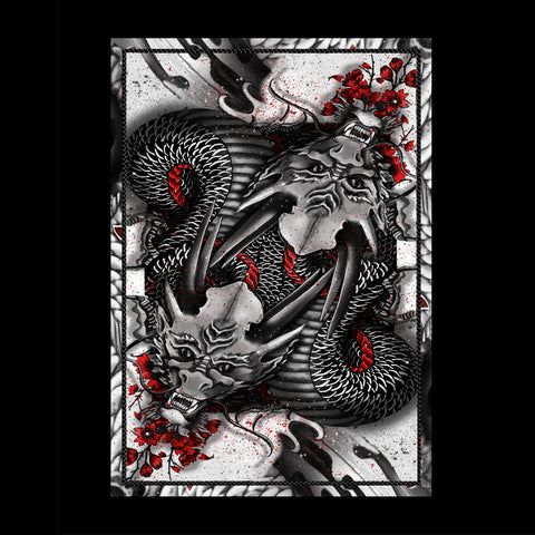 Dragon Series Playing Cards Black Edition Japanese Artwork