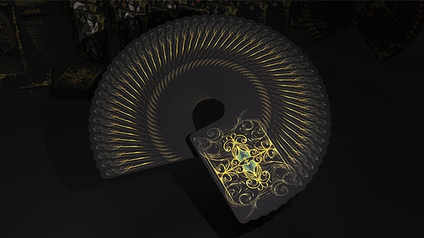 Black Exquisite Playing Cards Special Players Edition deck by De'Vo