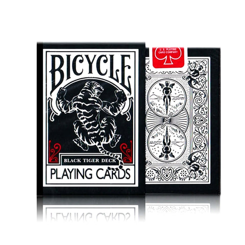 Black Tiger Playing Cards Red Deck Ellusionist Magic Performance Coating