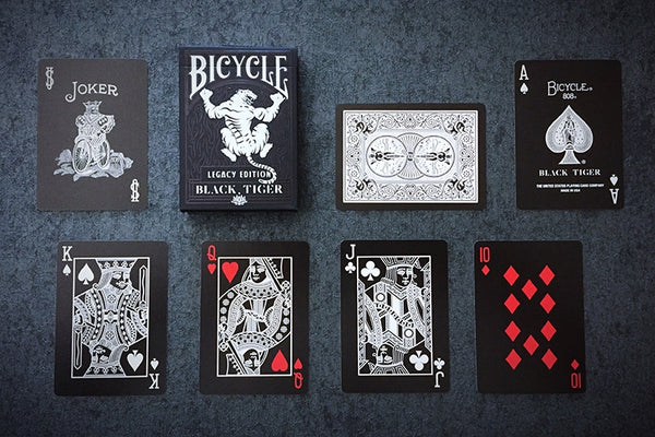 Black Tiger Playing Cards Legacy Edition Ellusionist Performance Coating