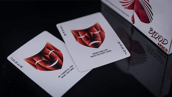 Blood Amber Playing Cards by Skymember made in USA