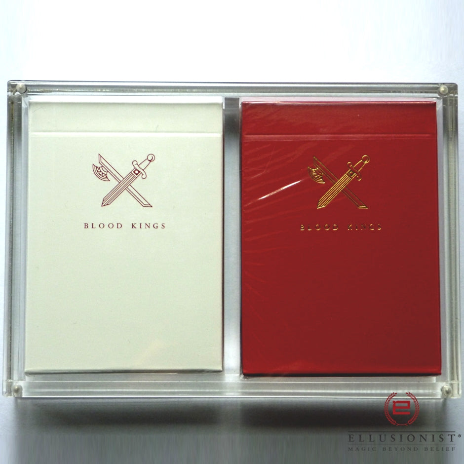 Blood Kings Playing Cards Rare V1 V2 Collectors Set 2-Decks in Acrylic Case
