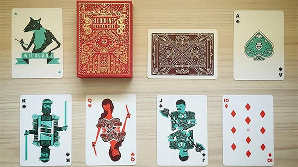 Bloodlines Playing Cards Magician deck Deck wrapped in Kraft paper