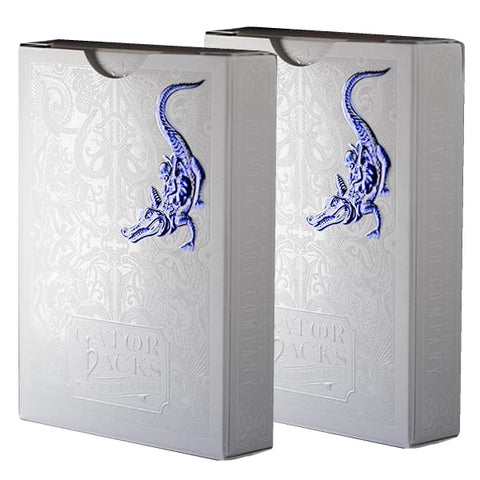 Blue Metallic Gatorbacks Playing Cards David Blaine MetalLuxe 2-Deck Set