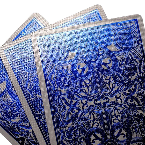 Blue Metallic Gatorbacks Playing Cards David Blaine 12-Deck Brick Pre-Order
