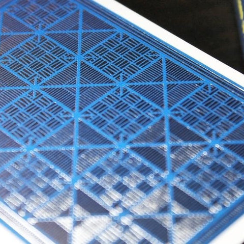 Blue Greille Luxx Playing Cards Metal Foil Finish on all Cards Premium Deck