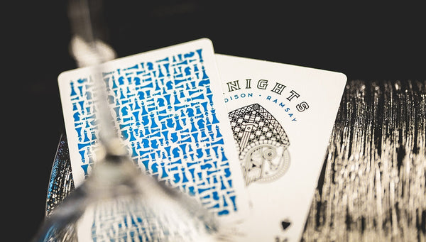 Blue Knights Playing Cards Madison Ramsay Ellusionist Magic 2-Deck Set