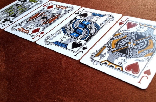 Buyworthy:Blue Luxx Playing Cards Premium Silver 1st Edition Original Premium Poker Deck