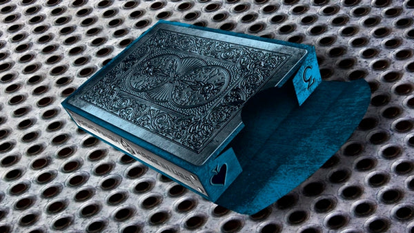 Metal Deck Playing Cards 2nd Edition Blue Bicycle Made in USA