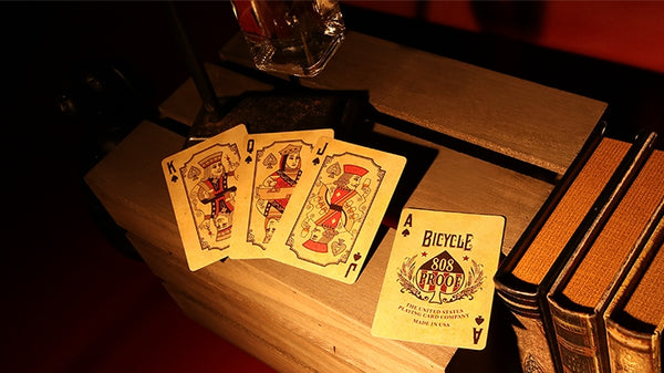 Bourbon Playing Cards 808 deck in a Bottle Magic Collectors Gift