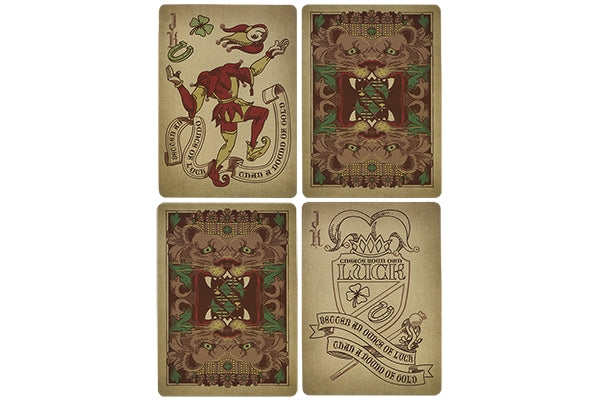 Coat of Arms Playing Cards Bronze Age Gloss Wooden Box