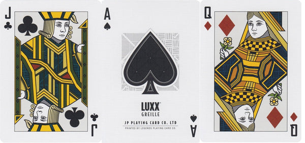Buyworthy:Blue Greille Luxx Playing Cards Metal Foil Finish on all Cards Premium Deck
