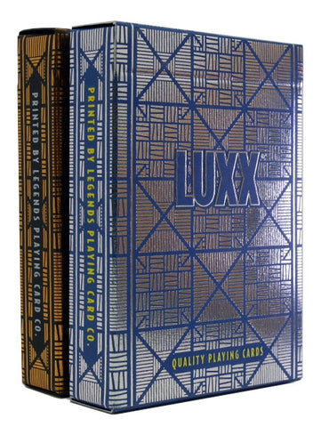 Buyworthy:Bronze Blue Greille Luxx Playing Cards Metal Foil Finish on all Cards ~ 2 Decks