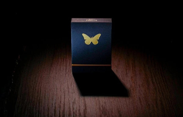 Butterfly Playing Cards Black & Gold Edition Gilded & Gold Foiled
