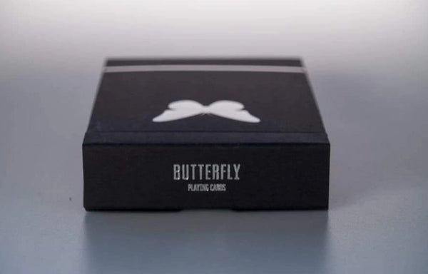 Butterfly Playing Cards Black & Silver Edition Marking System