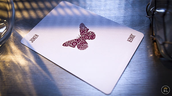 Butterfly Playing Cards Red Rare Sealed Magic Marking System