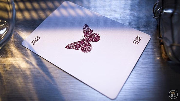 Butterfly Playing Cards Limited Red Rare Carat Case Signed