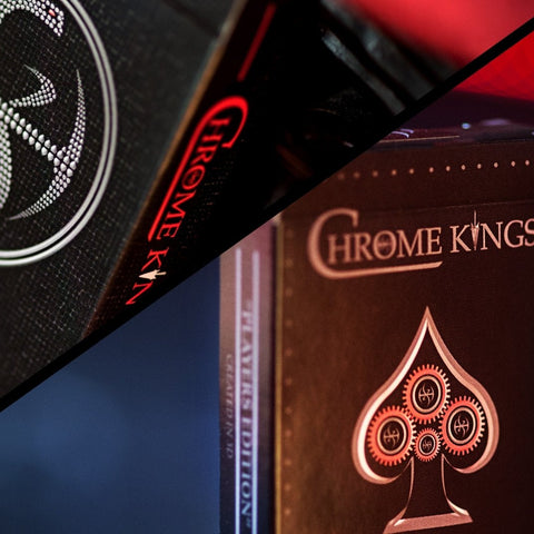 CHROME KINGS Playing Cards 3D ARTIST & PLAYERS Edition 2 Deck Set + Signed Card