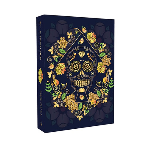 Calaveras de Azúcar Playing Cards Blue Edition  by Natalia Silva