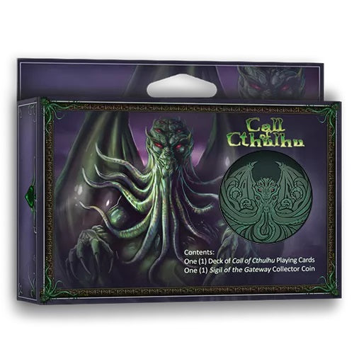 Call of Cthulhu Playing Cards Collectors Set 1 Deck 1 Coin Rare Exclusive Edition
