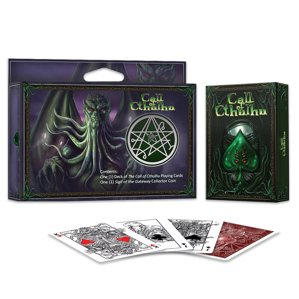 Call of Cthulhu Playing Cards Officially Licensed Collectors Set 1 Deck 1 Coin