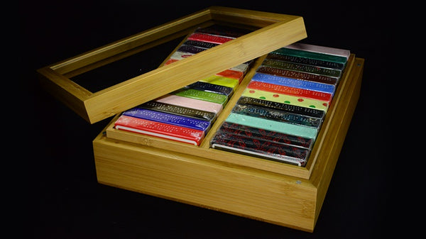 Bamboo Double Brick Box B24 Empty Playing Cards Case Holds 24-decks