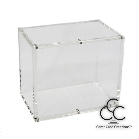 Playing Card Carat Case X6 Empty Box Clear Acrylic Magnet Holds 6-decks