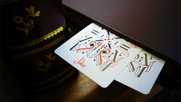 Cardistry Calligraphy Playing Cards Blue Limited Edition