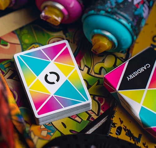 Cardistry Colour Playing Cards by BOCOPO Casino Grade Stock