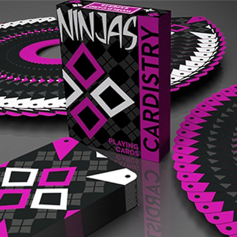 Ninjas Cardistry Wildberry Playing Cards Limited Edition by De'vo