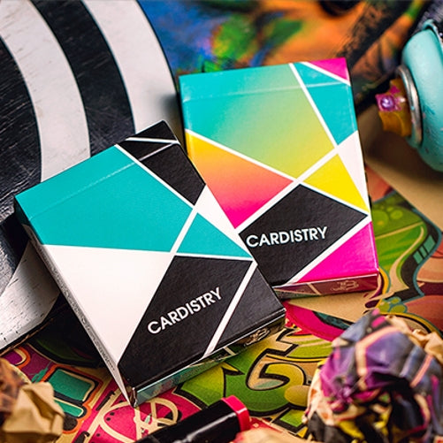 Cardistry Turquoise & Colour Playing Cards Set by BOCOPO ~ 2 Decks
