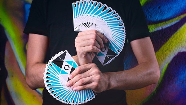 Cardistry Turquoise Playing Cards by BOCOPO Casino Grade Stock