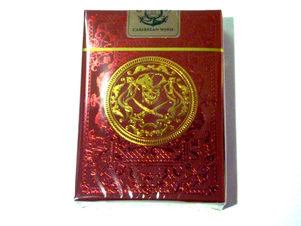 Caribbean Wind Playing Cards Pirate Edition Red Deck Metallic Ink