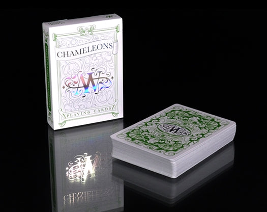 Chameleons Playing Cards Green Edition Iridescent Foil